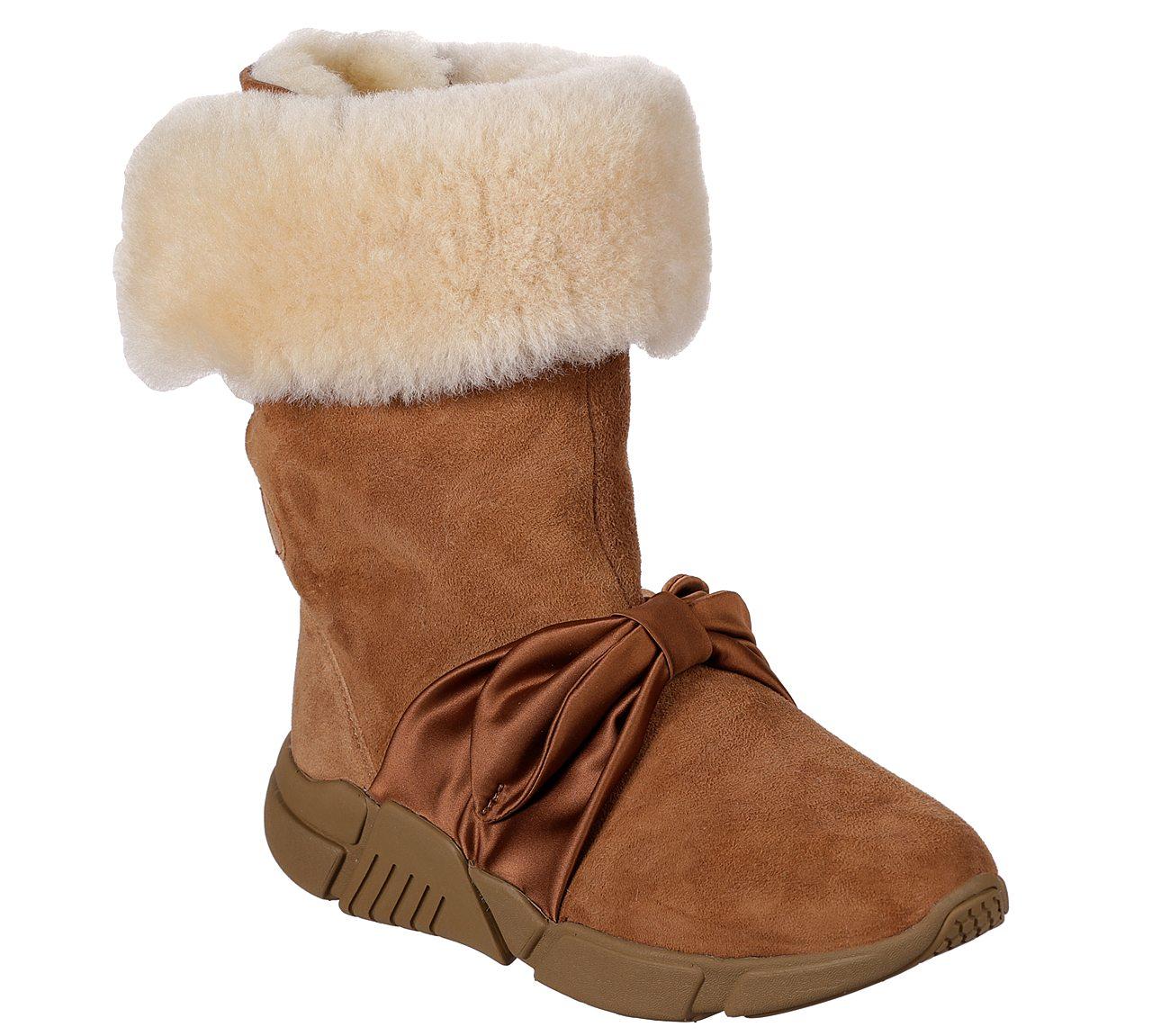 skechers sheepskin boots