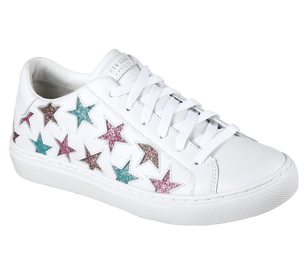 Skecher Street Womens Side Street-Glitter Star High Top Fashion Sneaker