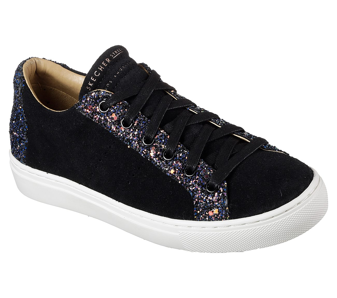 Skechers Street Women/'s Side Street-COMET KICKERS 73544 Black Brand New