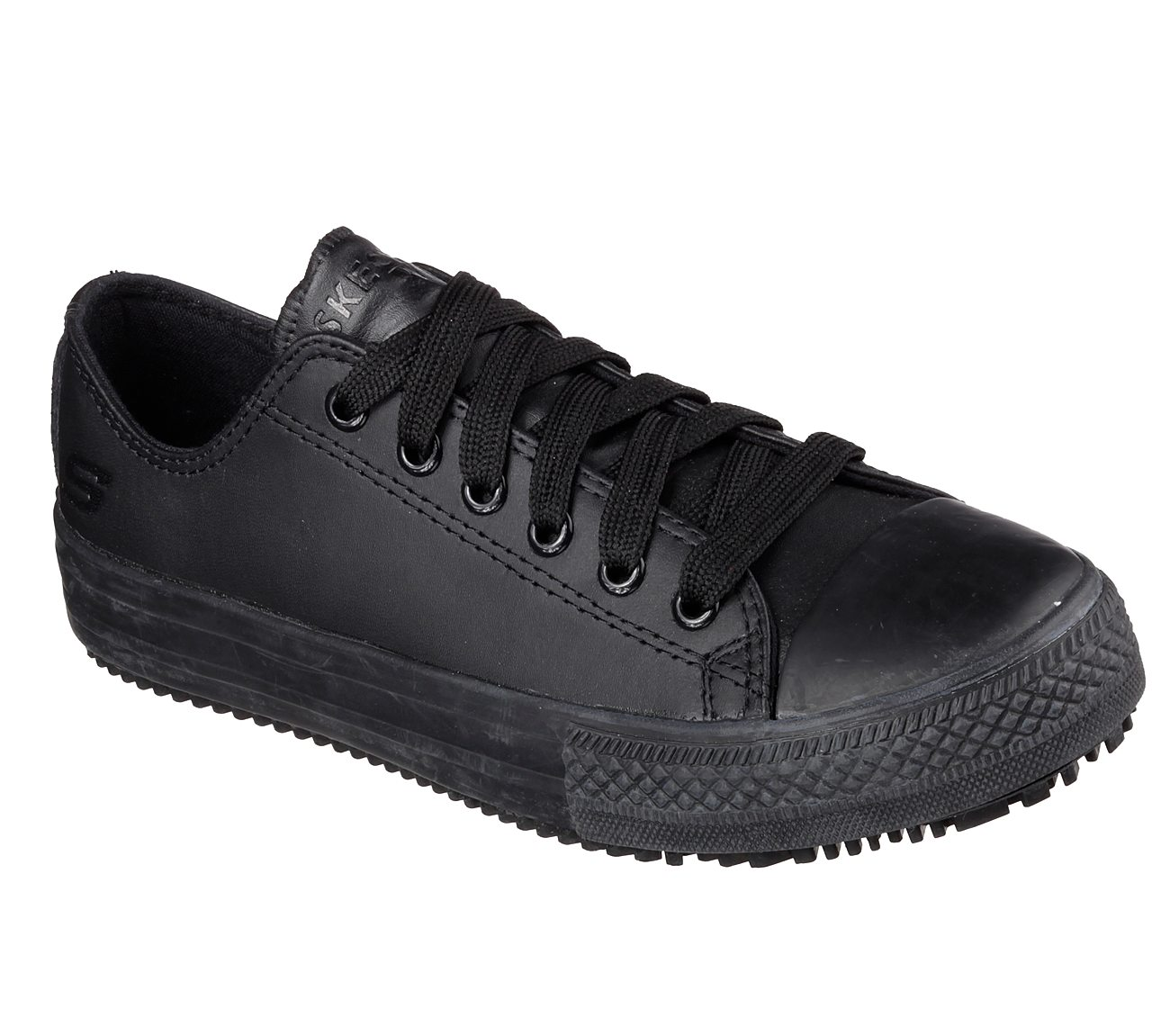 Women's Skecher's For Work 76453 Gibson-Hardwood Lace Up Work Shoes Black.