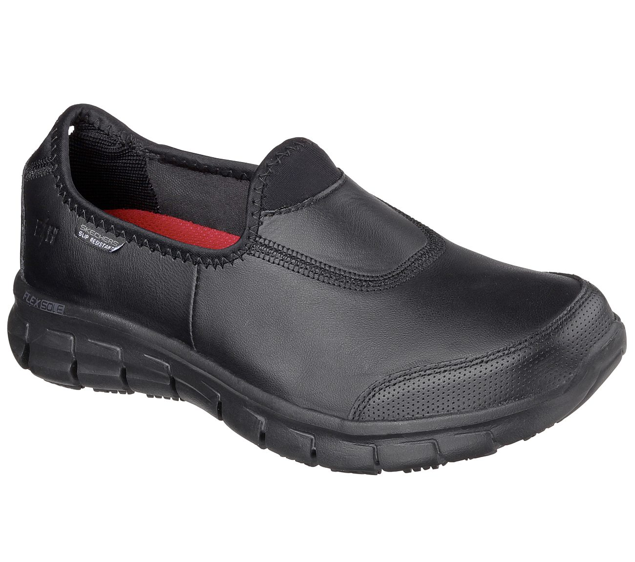 skechers black shoes for women