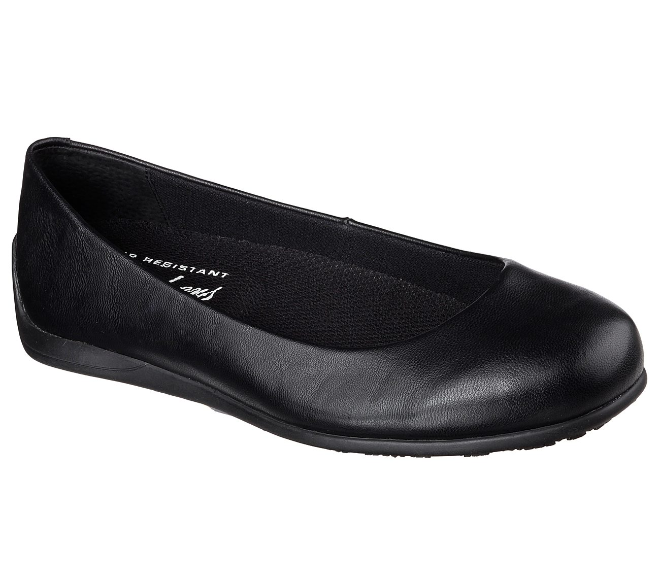 2017 New Skechers Work Flattery Transpire Memory Foam Slip On Flat Black