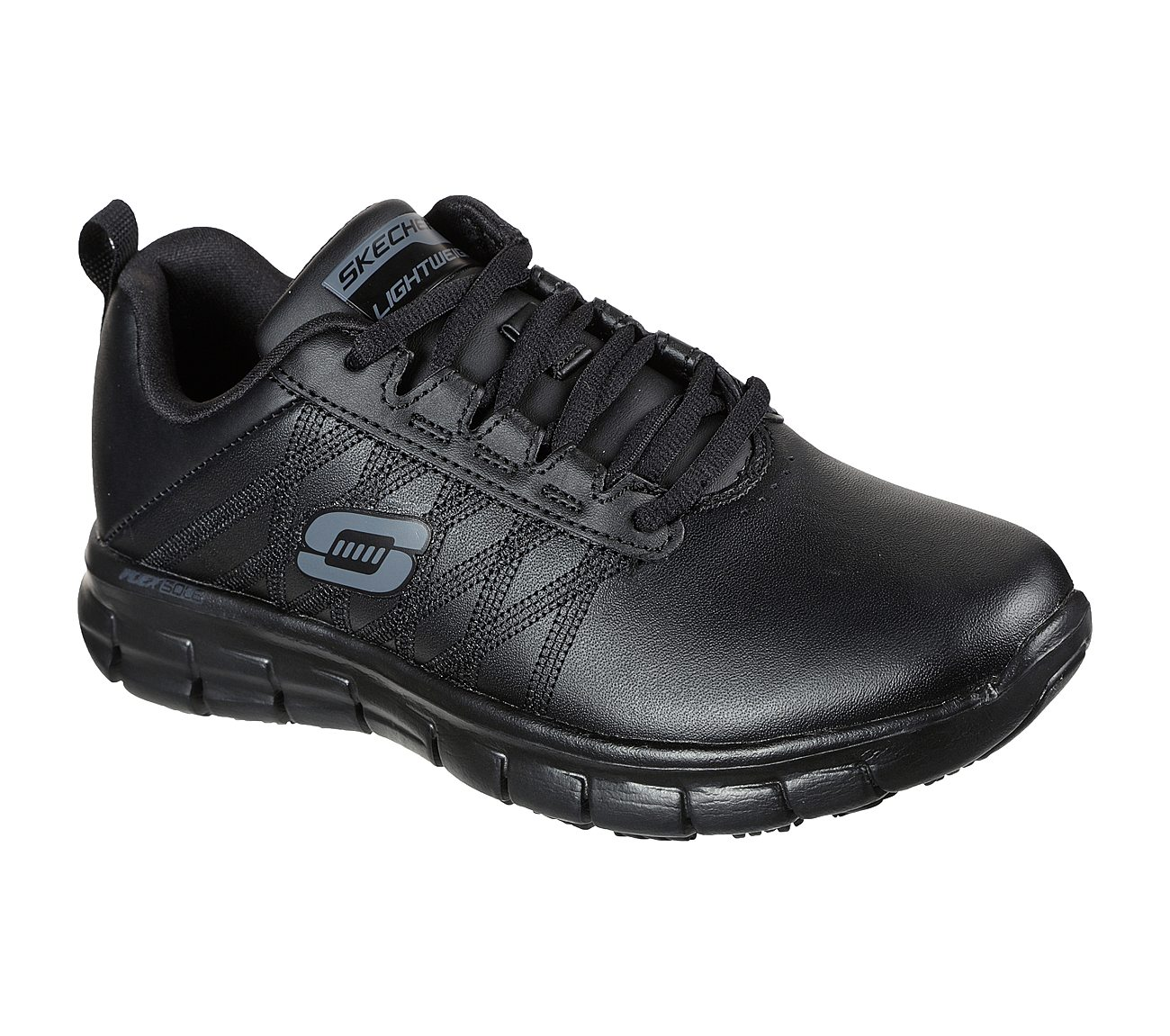 Designer Skechers Work Comfort Flex Sr Hc Black Shoes