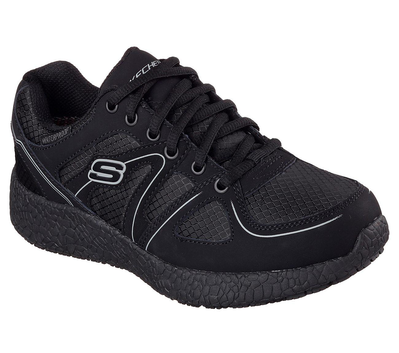 2017 Design Skechers Burst Gwinner Wide Memory Foam Waterproof Sneaker Black