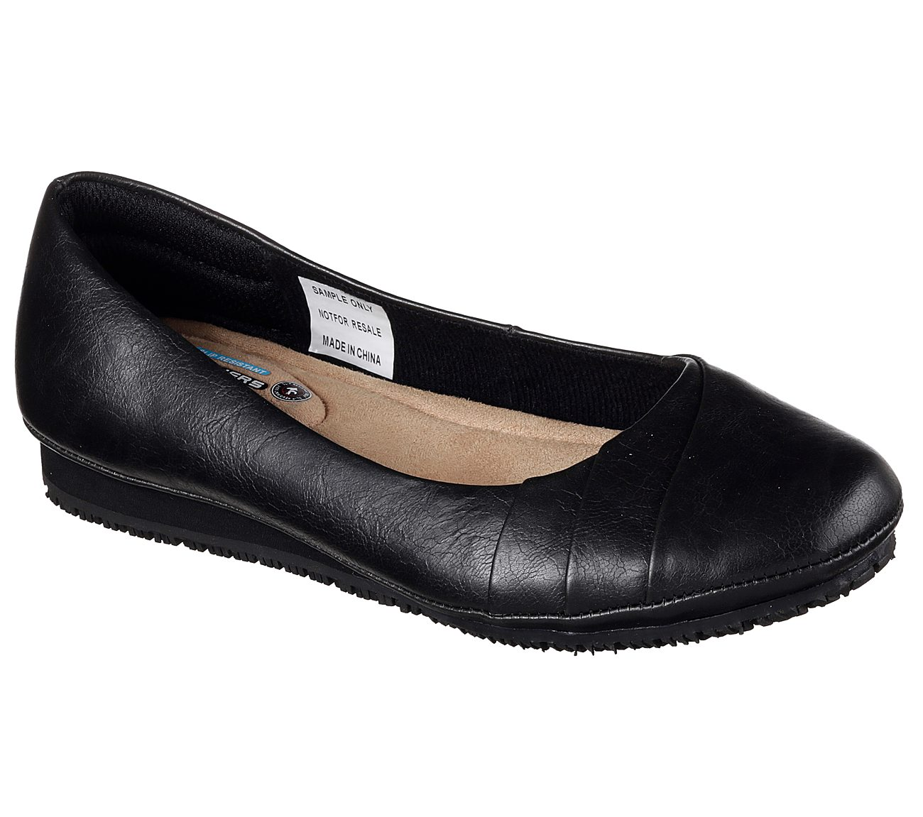 Work Kinkaid Flats - Women Skechers - black