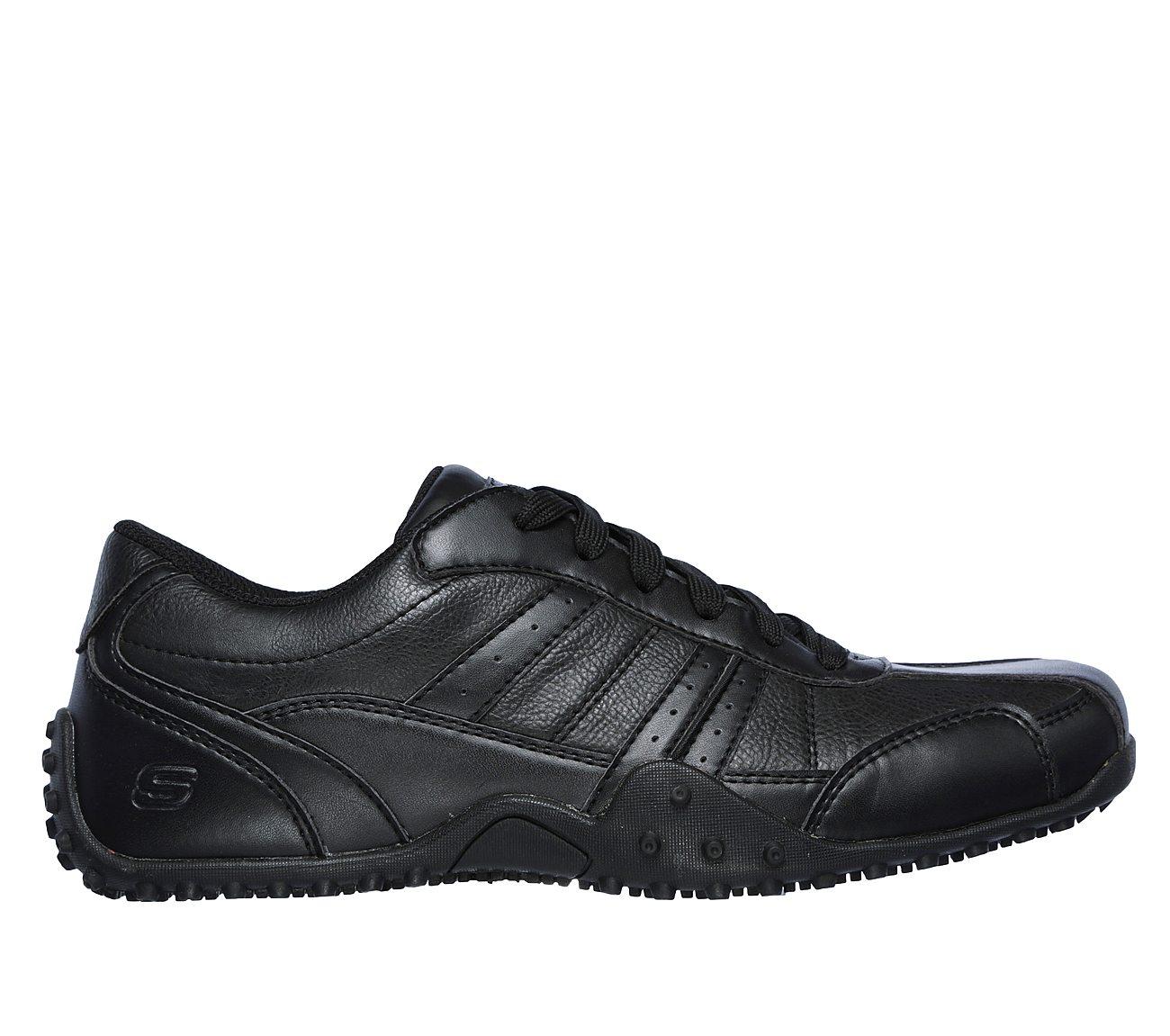 SKECHERS Work Men's Elston Black Sneaker 14 D (M) jJgzR5M