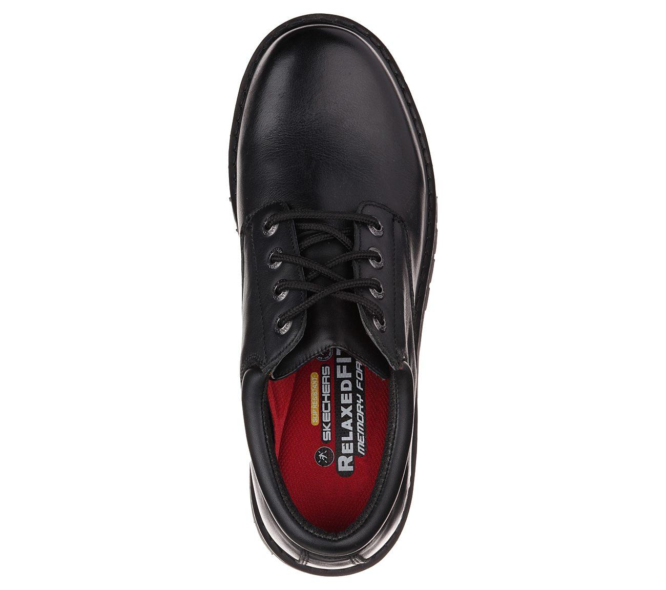 skechers relaxed fit cottonwood elks sr men's non-slip work shoes