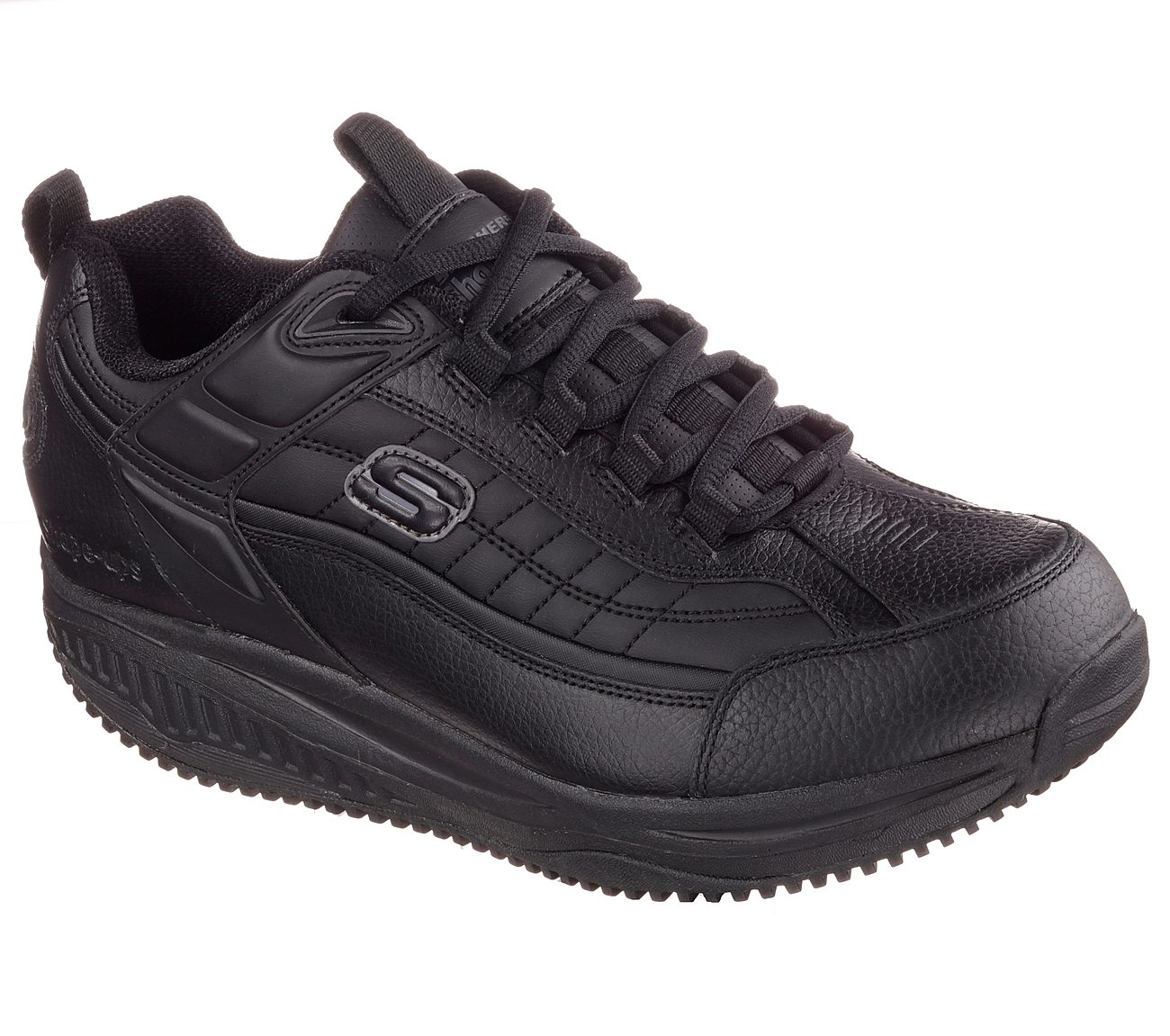 skechers shape ups mens brown