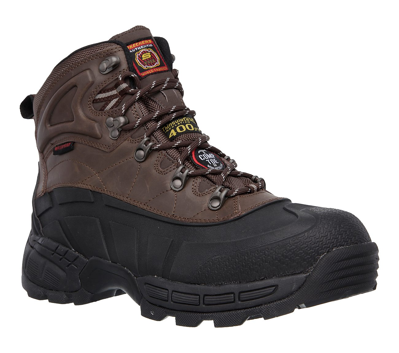 Skechers Shoes  Skechers Work 77050 Radford Mens Boots BlackBrown