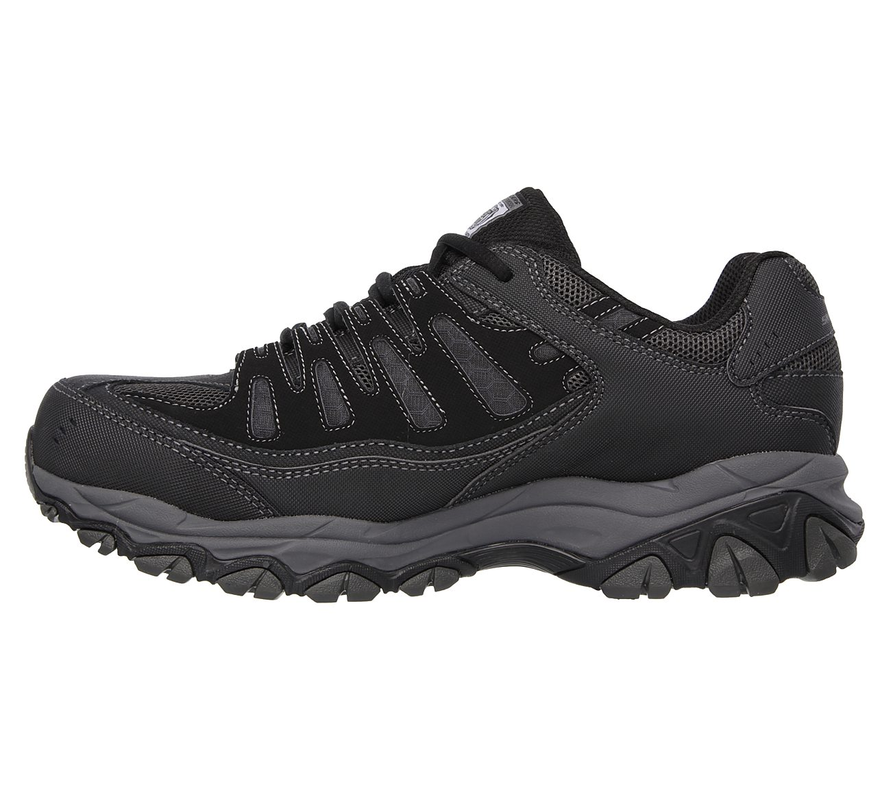 Skechers Men's Work Relaxed Fit Crankton Steel Toe Shoe,Black/Charcoal,US 7.5 W