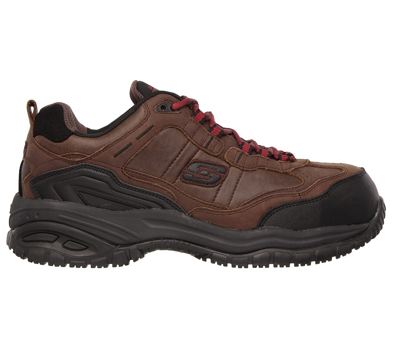 Skechers Work Relaxed Fit Soft ... Stride Constructor II Men's Composite-Toe Shoes cifKBRE