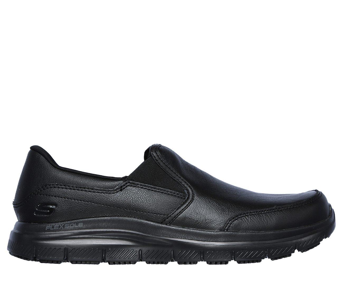 bronwood men Skechers work メンズ フレックス advantage sr - bronwood ブラック レザー loafer 12 d (m) (海外取寄せ品)ちょっと贅沢な,靴は最安値に挑戦.