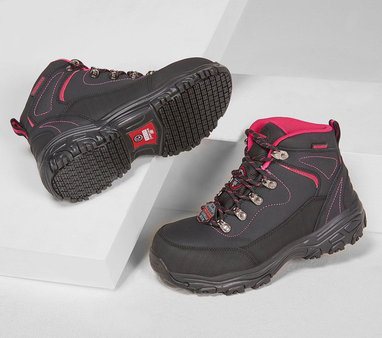23f7f5f5d203 Buy SKECHERS Work  D Lites SR - Amasa Alloy Toe Work Shoes only  92.00