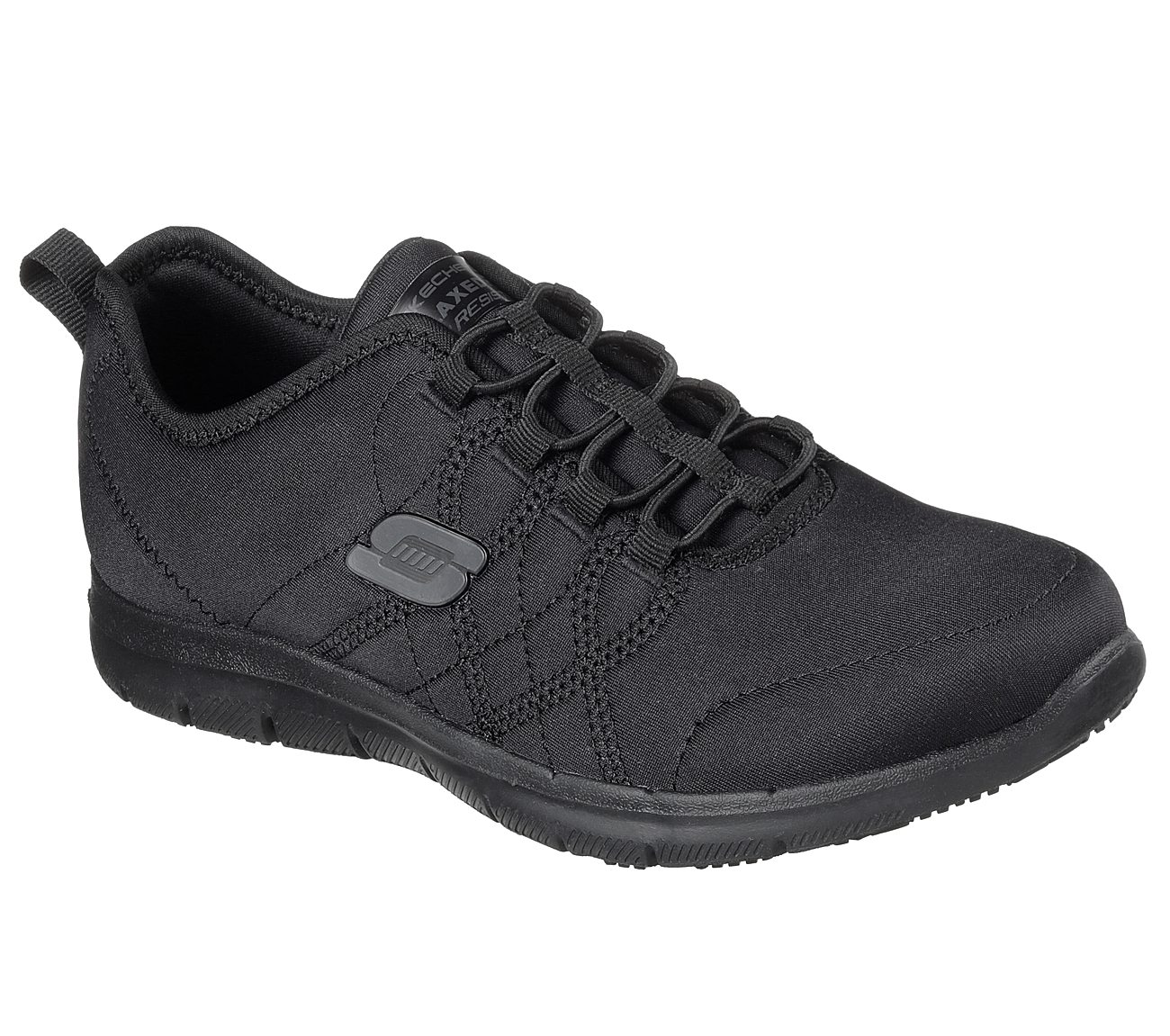 NEW SKECHERS WOMENS WORK RELAXED FIT GHENTER SRELT SR SNEAKER