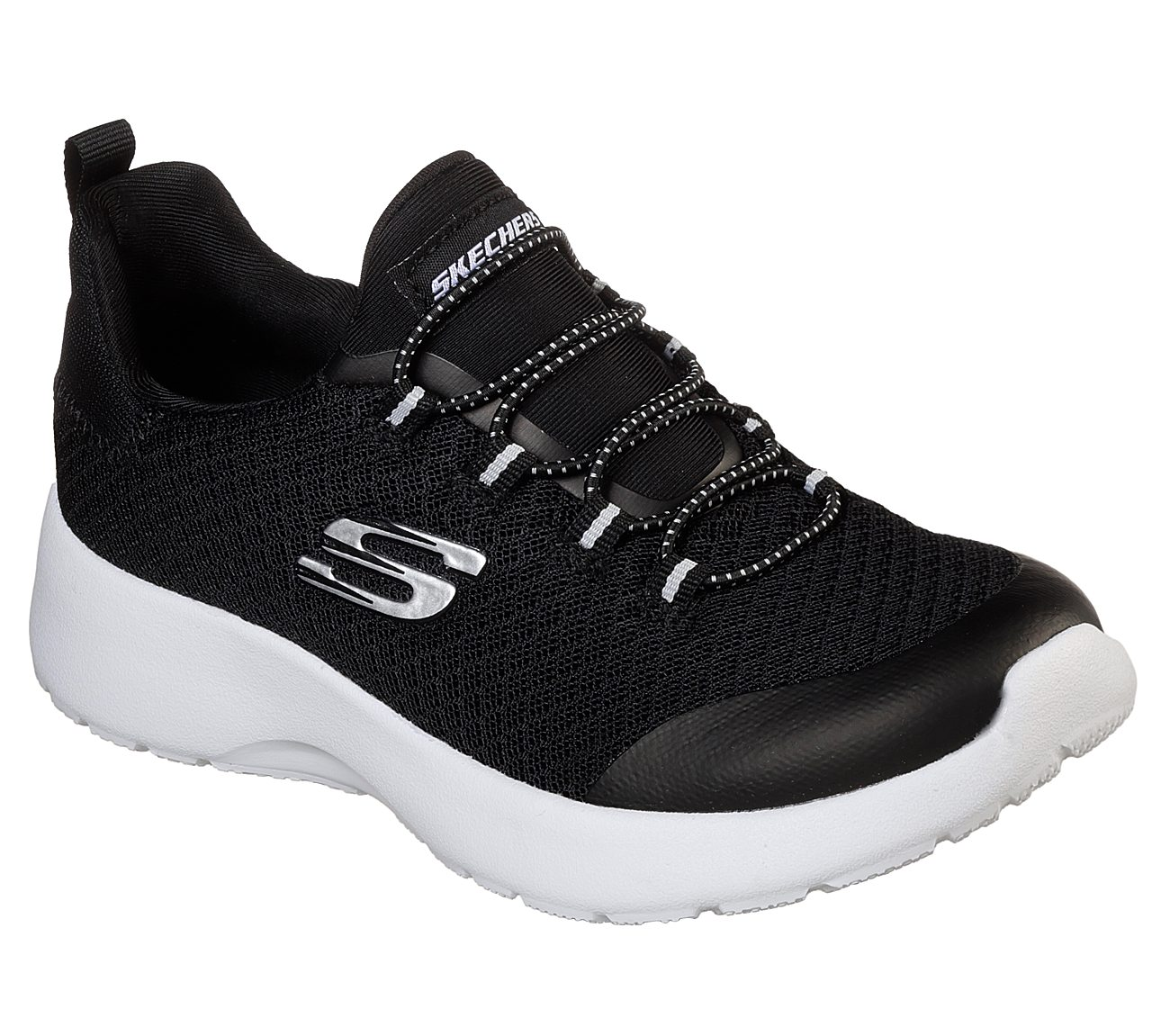 Skechers Dynamight Womens Slip On Sneakers Black/White 6 Visita Salida De Nuevo eIwRVCo3