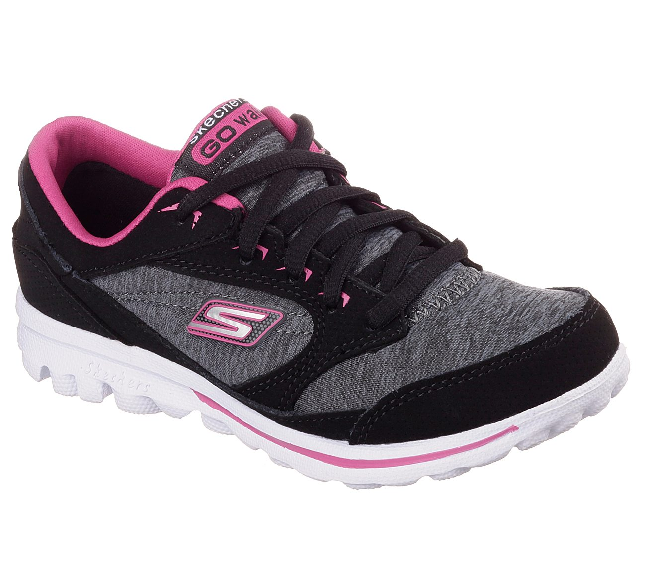 New Skechers Go Walk Synthetic And Fabric Black Trainers for Women Online