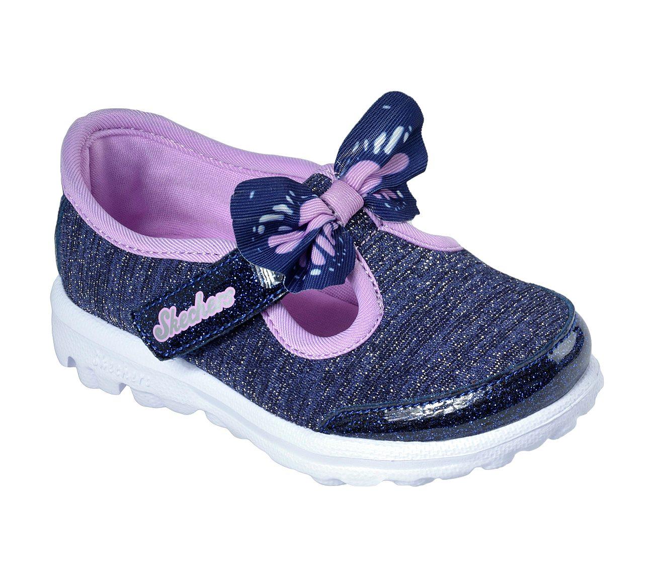 Skechers Baby Mädchen Go Walk Sneaker, Mehrfarbig (Lavender