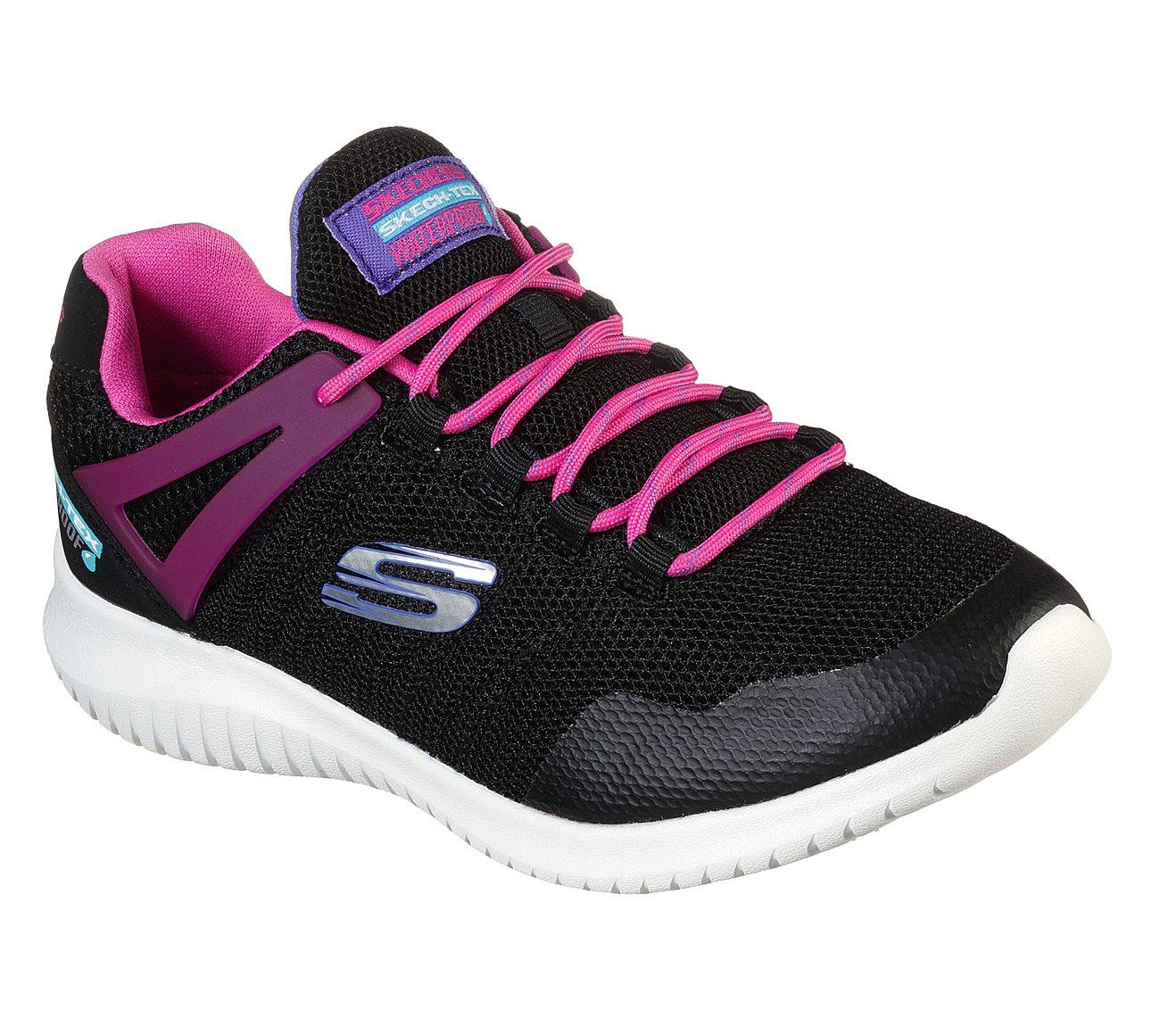 Hot charm womens skechers black go flex walk shoes black