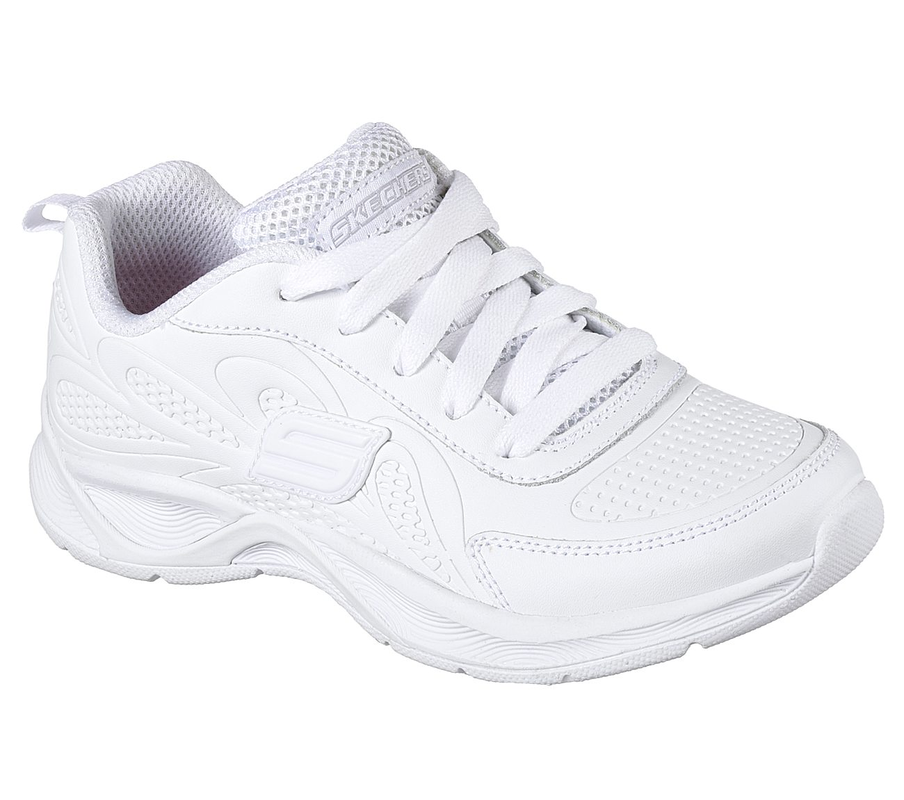 plain hvit skechers purchase 2da94 21899