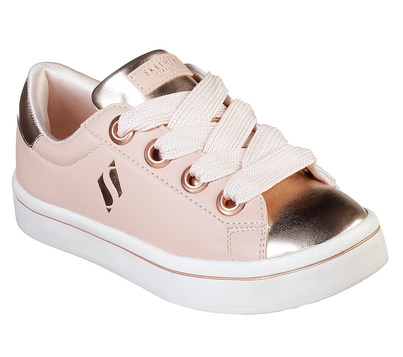 Discounts Cheap Online Cheap Perfect Skechers Hi-Lites Medal Toes Sneaker(Girls') -White/Silver For Sale Official Site Outlet Marketable NJ573