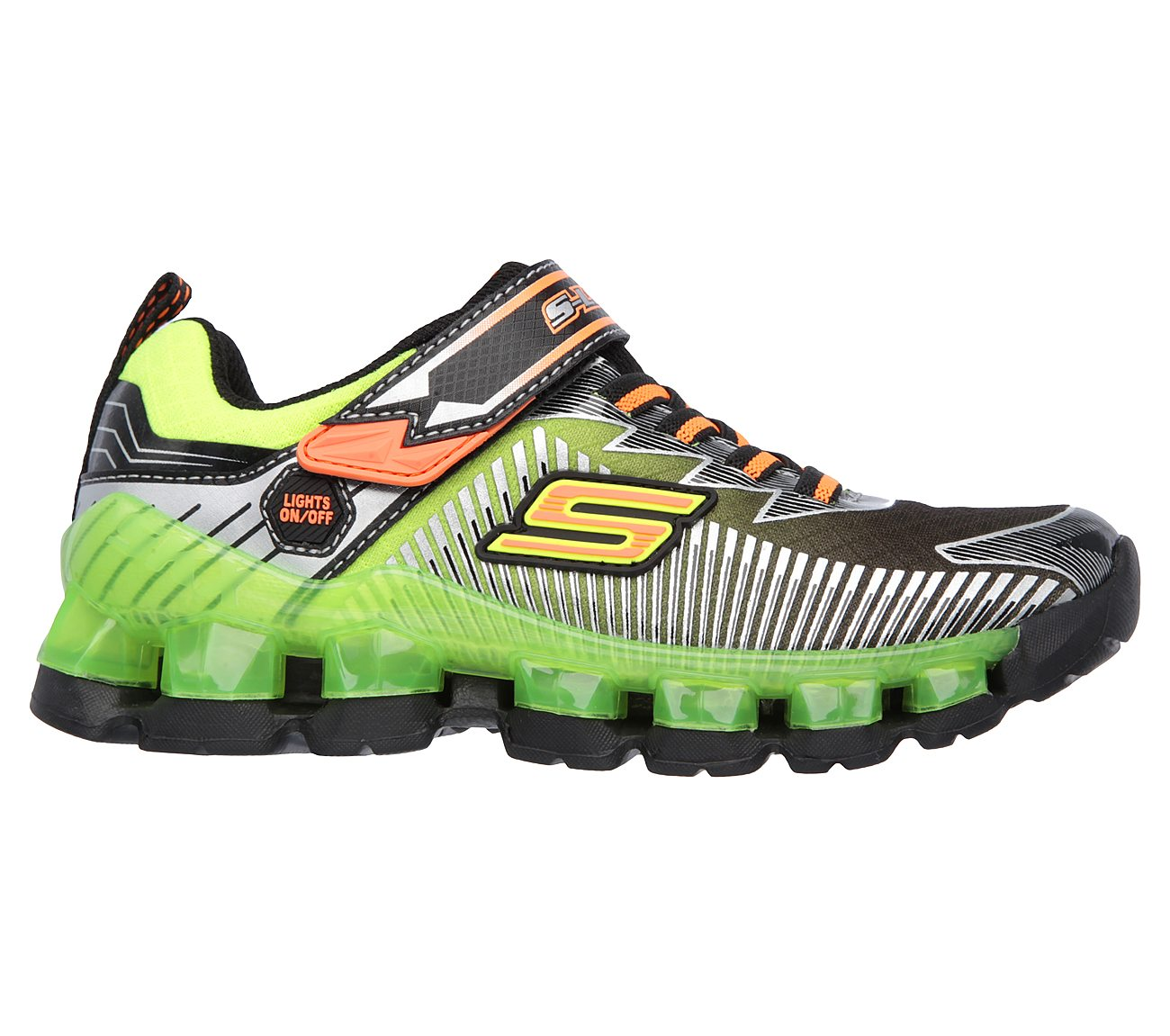 Boys Skechers S Lights Flashpod Scoria Light Up Sneakers Sz