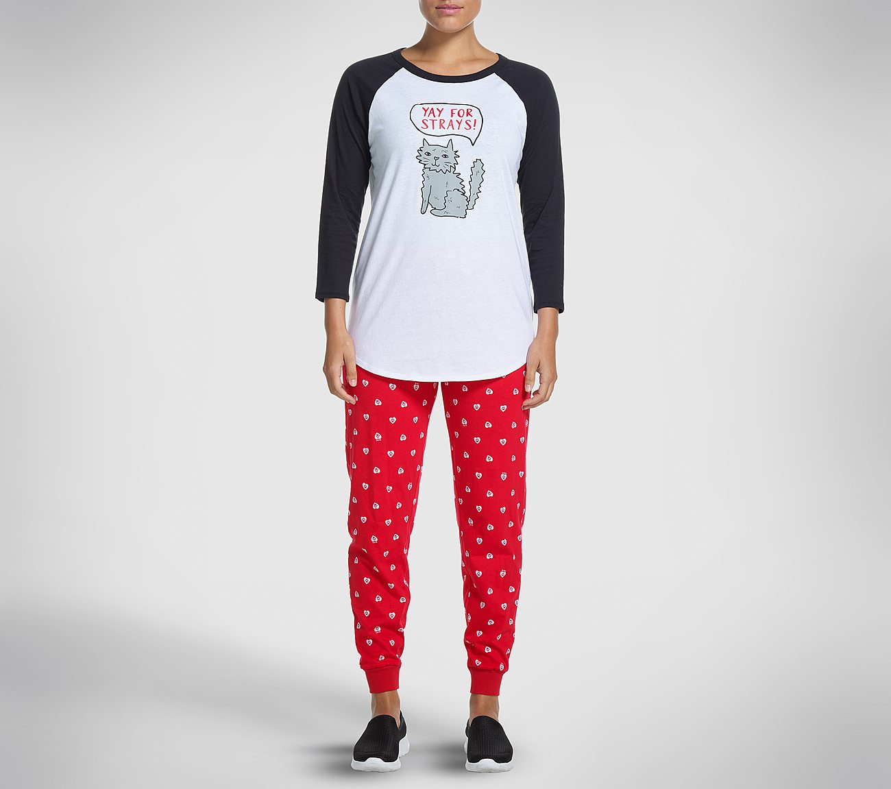 84a09f32dfd3 Buy SKECHERS Yay for Strays Pajama Set BOBS Shoes only $39.00