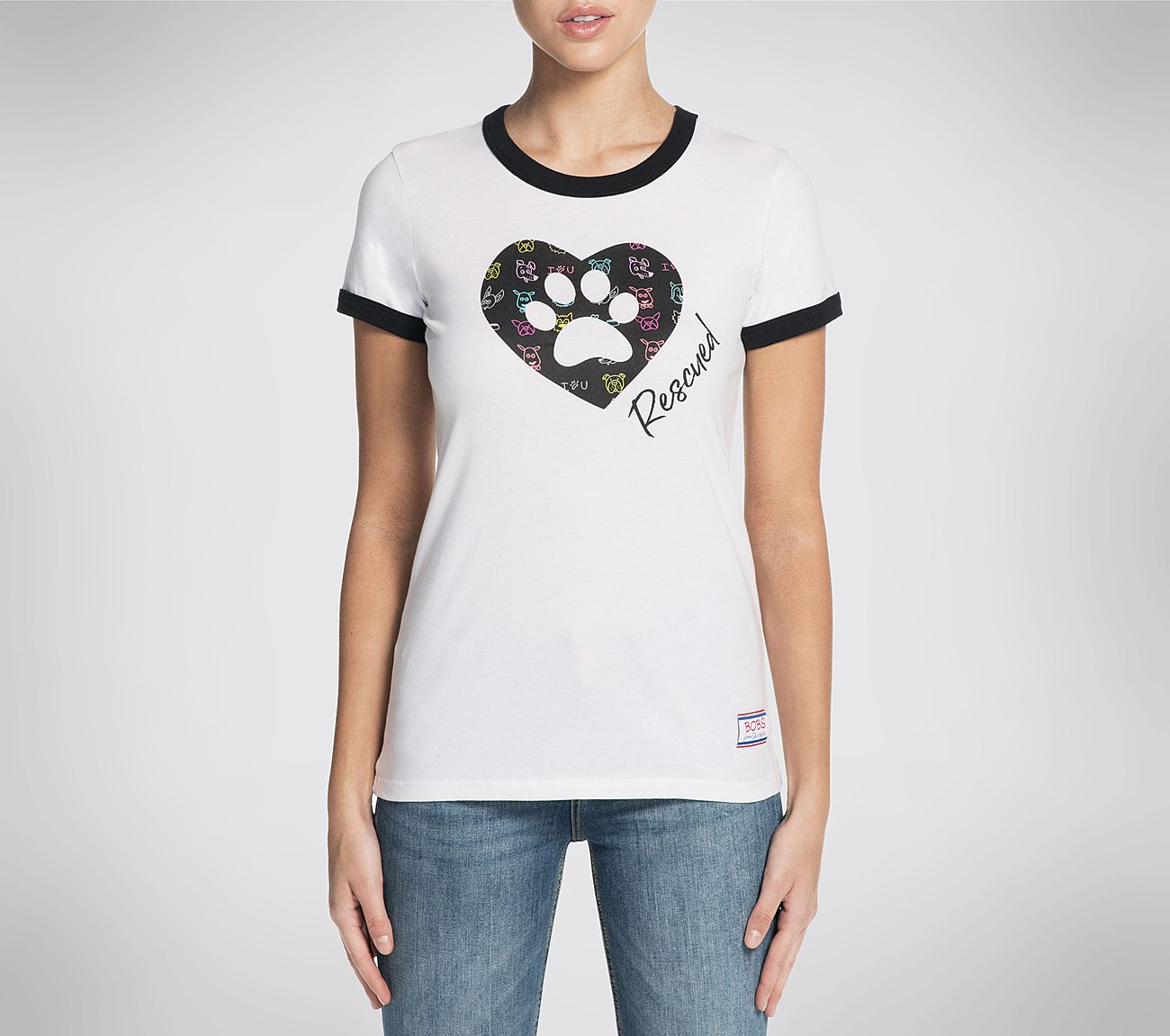 BOBS Rescued Ringer Tee Shirt