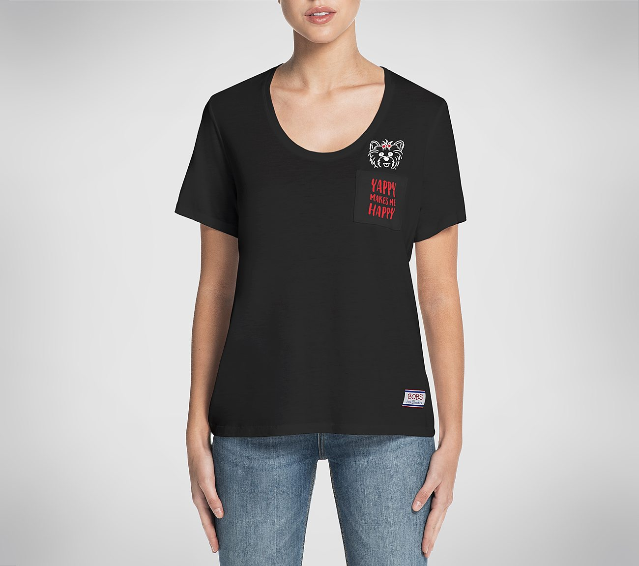 BOBS Yappy Happy Relaxed Pocket Tee Shirt