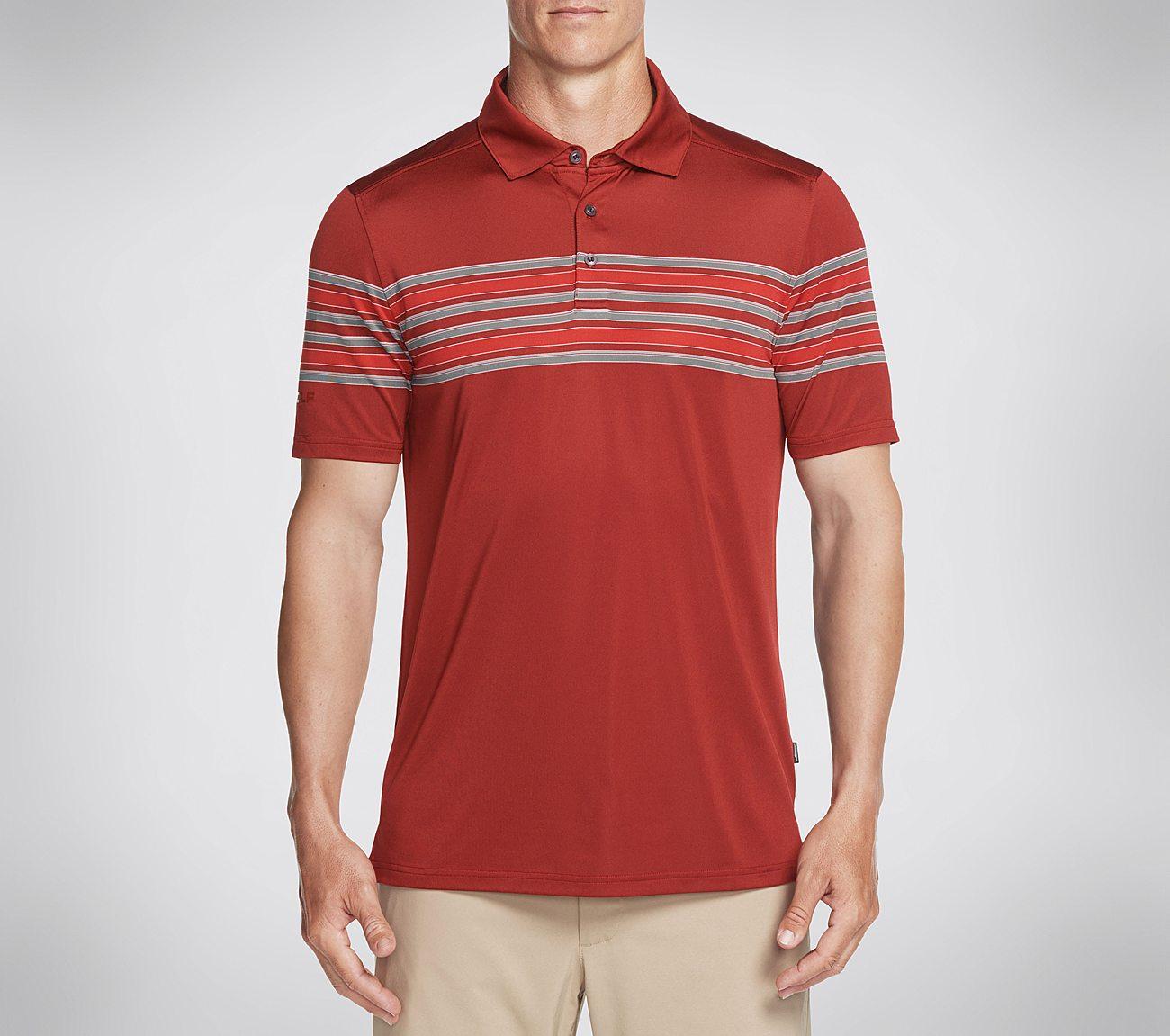 Skechers GOGOLF Club Face Stripe Polo Shirt
