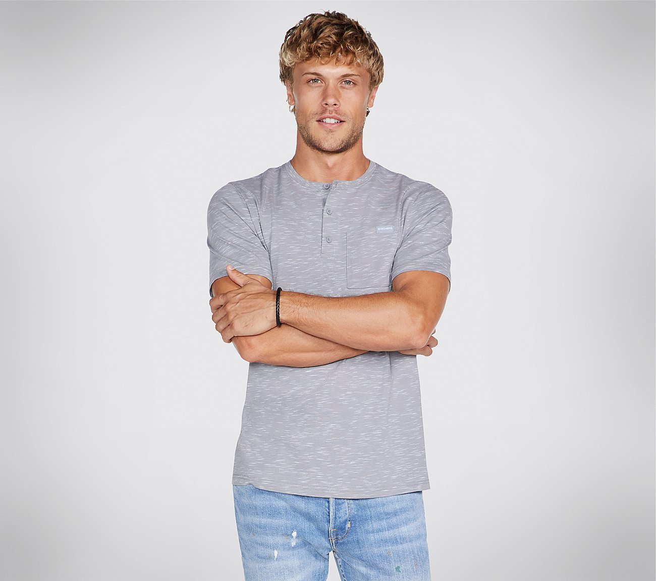 Skechers Apparel Fields Henley Tee Shirt
