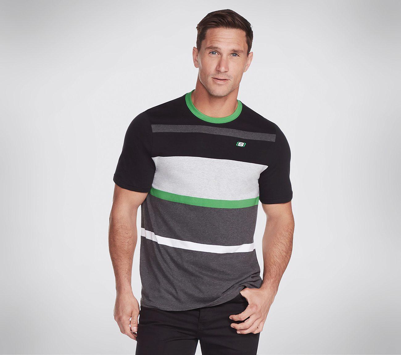 Skechers Apparel Mountain View Stripe Tee Shirt