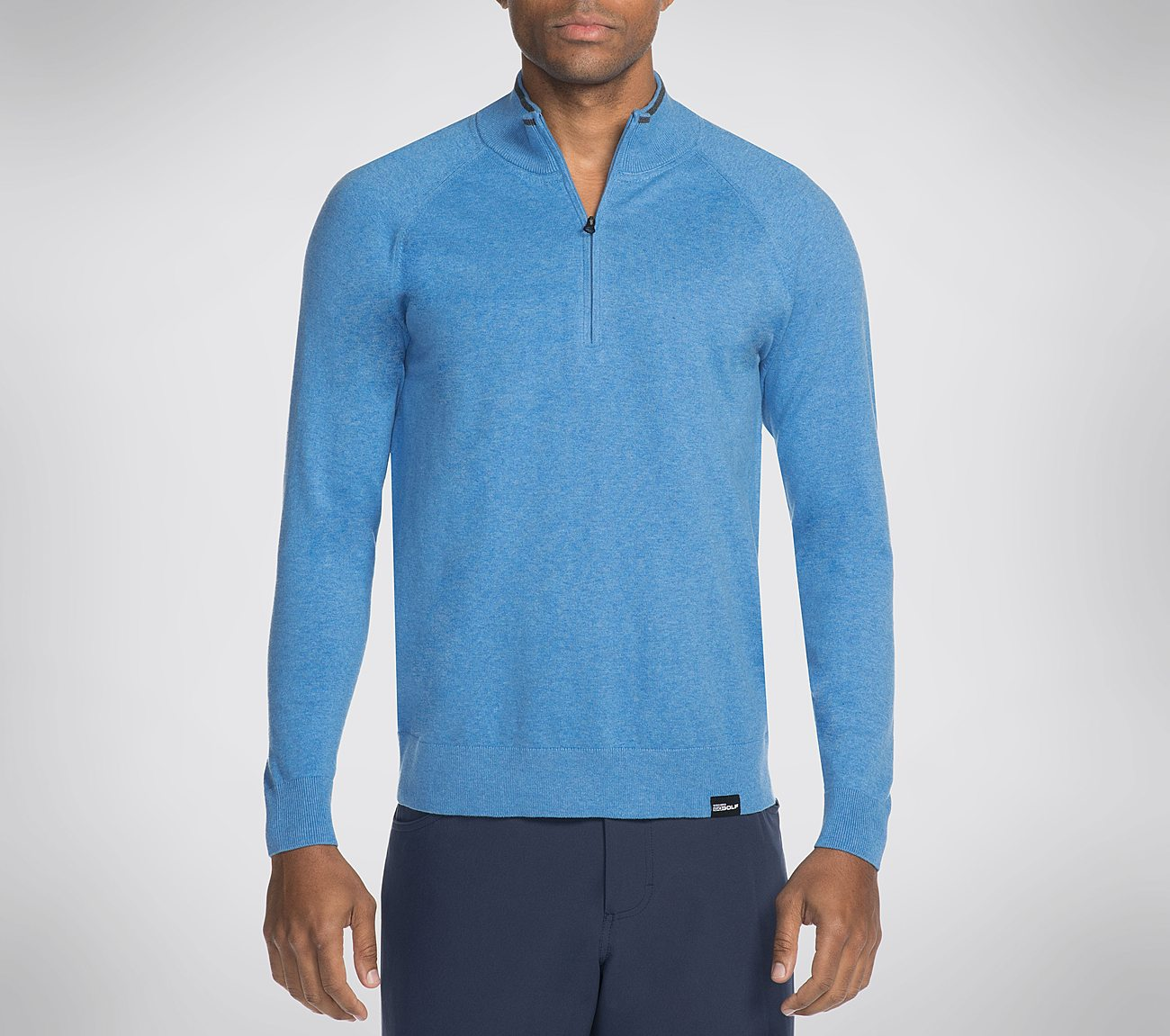 Skechers GO GOLF Fairway LS 1/4 Zip Mock Pullover Shirt