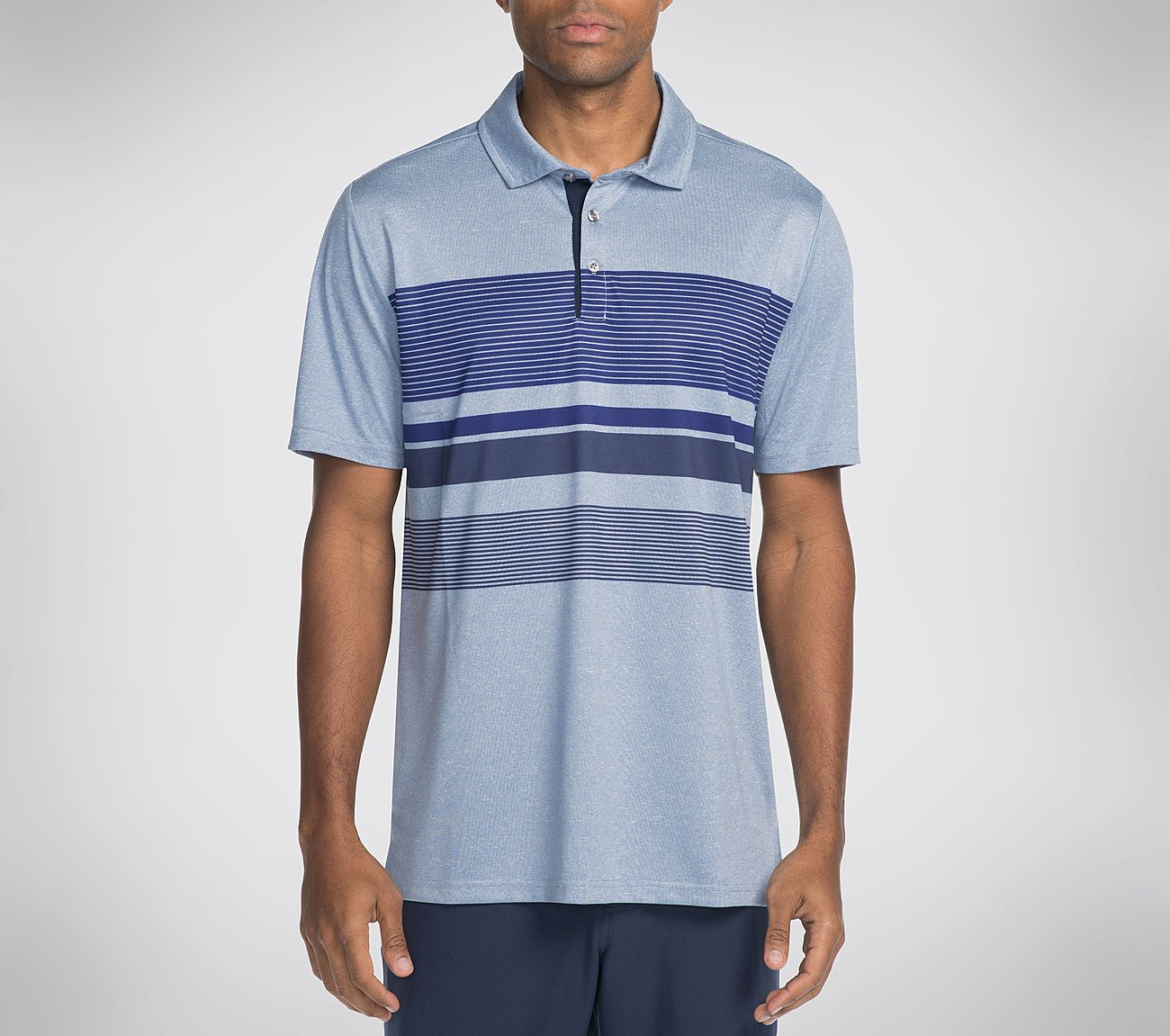Skechers GO GOLF Slice Engineered Stripe Polo Shirt