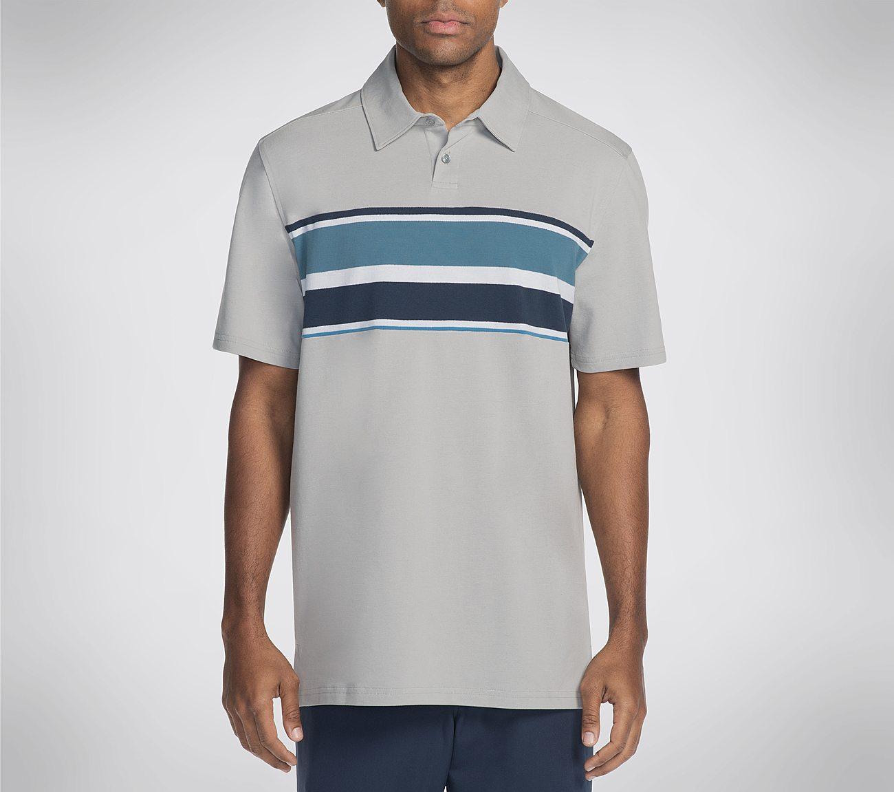 Skechers GO GOLF Fade Engineered Stripe Polo Shirt