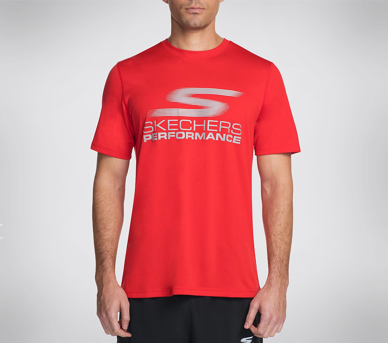 Skechers Wave Logo Tee Shirt Apparel Shoes