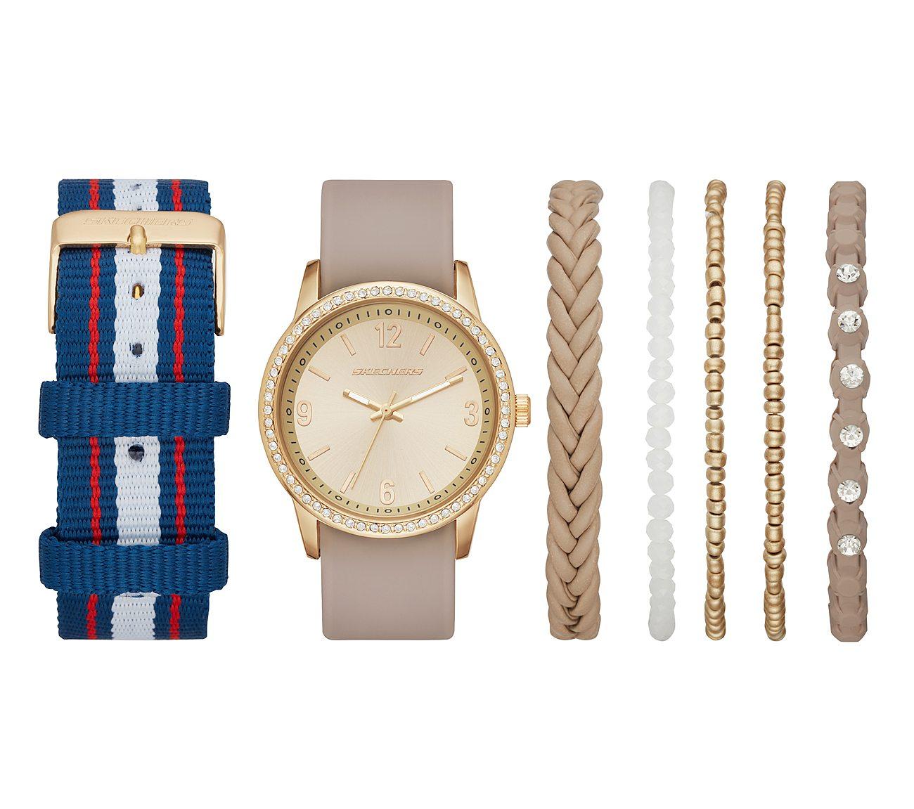 Metallic Watch Gift Set