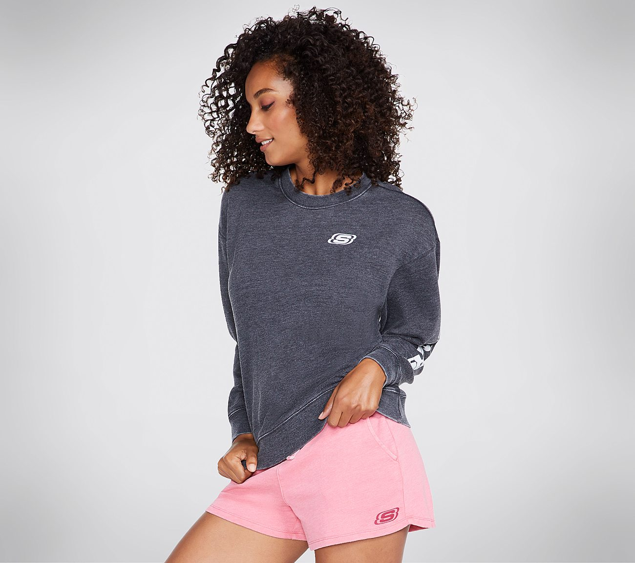 Skechers Apparel Washed Terry Sweatshirt