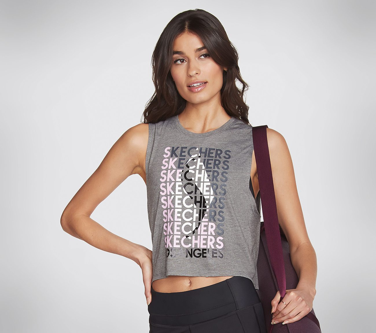 Skechers Apparel Street Illusion Crop Tank Top