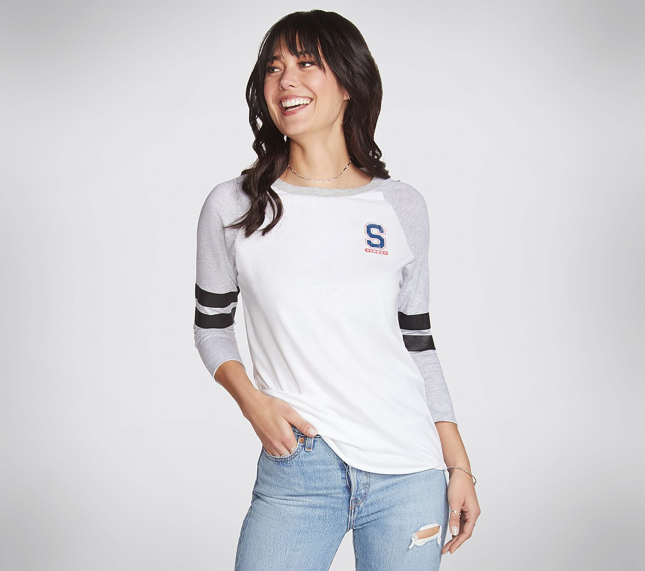 Skechers Apparel Lounger Baseball Tee Shirt