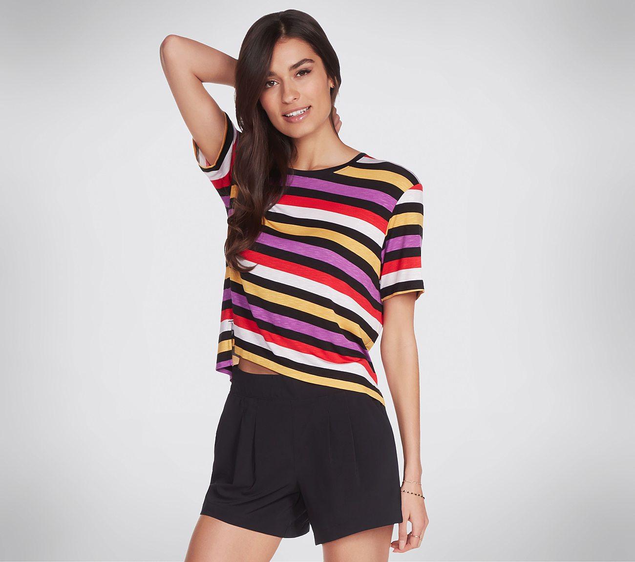 Skechers Apparel Encounter Stripe Tee Shirt