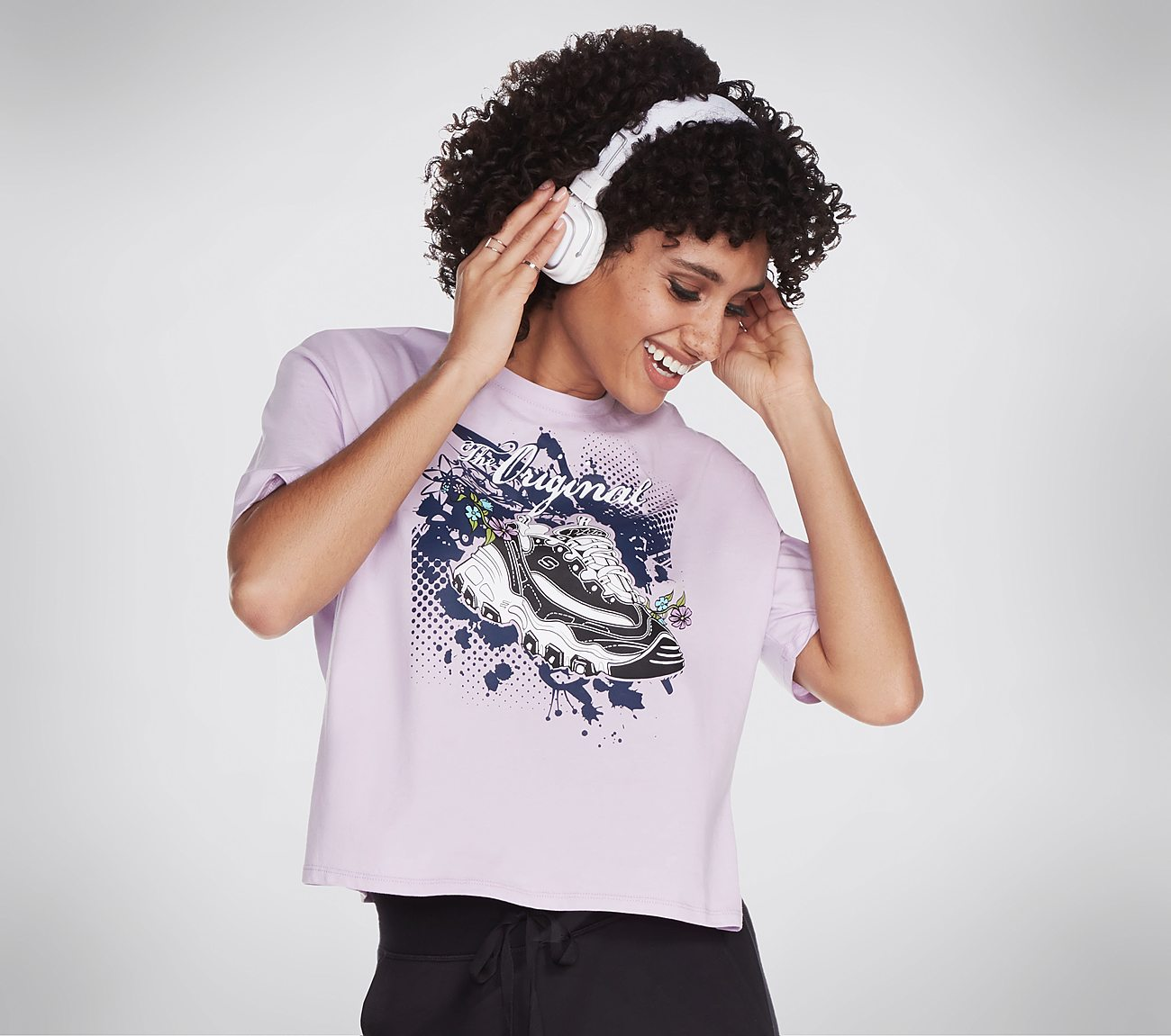 Skechers Apparel Original D'Lites Cropped Tee Shirt
