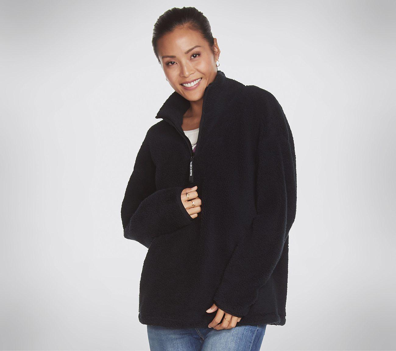 Skechers Apparel - Restful Sherpa 1/4 Zip Pullover Top