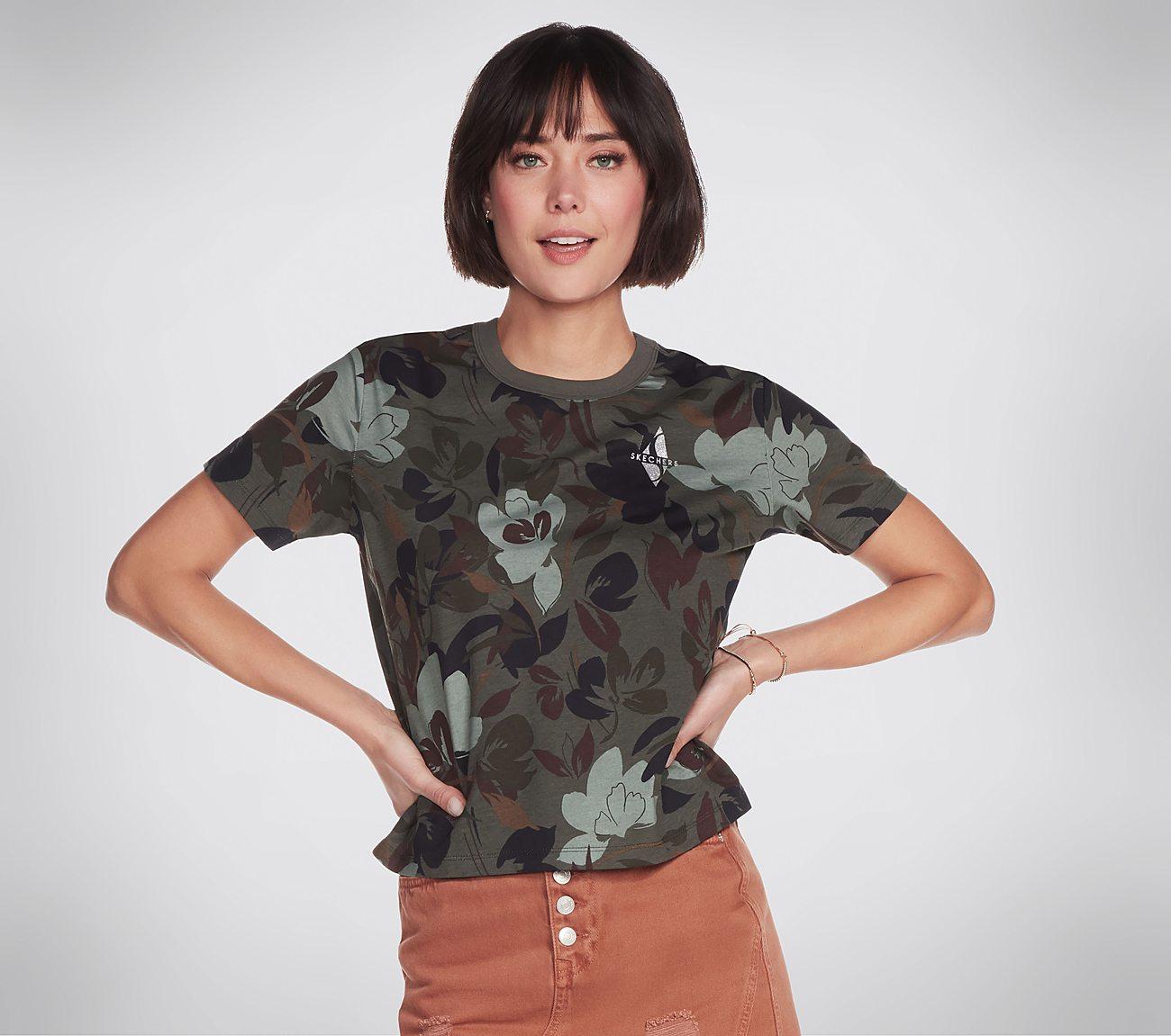 Skechers Apparel Floral Camo Tee Shirt