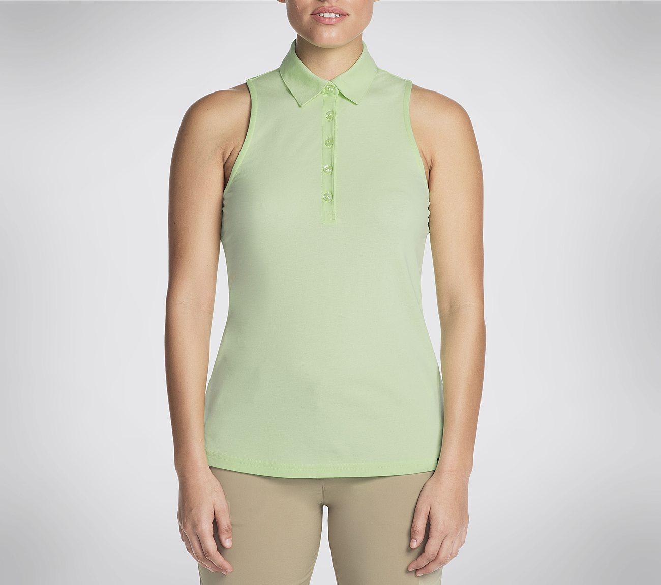 Women's Skechers GO GOLF Comfort Swing Sleeveless Polo Shirt