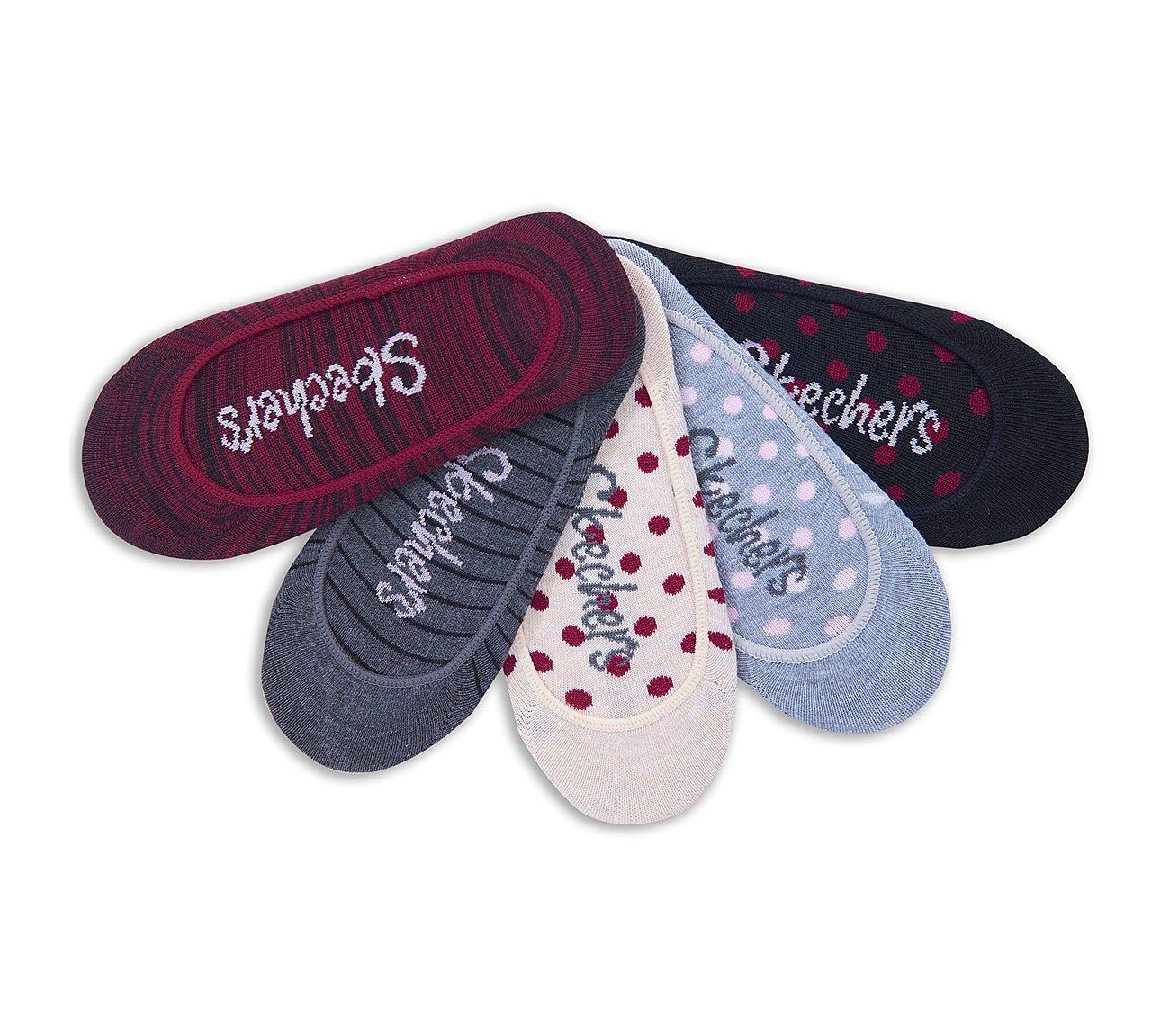 5 Pack Striped Liner Socks