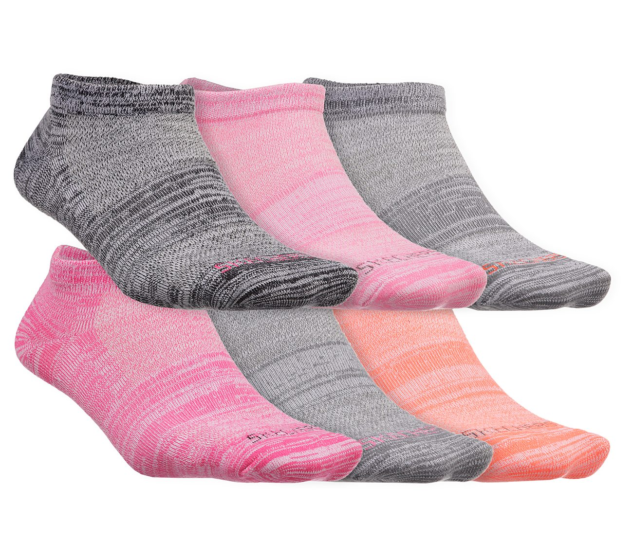 6 Pack Low Cut Sport Stripe Socks