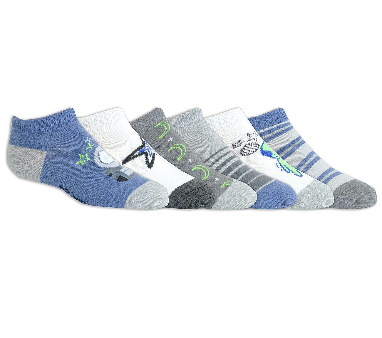 6 Pack Kids' Space Low Cut Socks