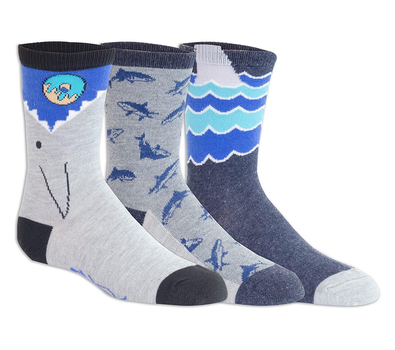 3 Pack Shark Crew Socks