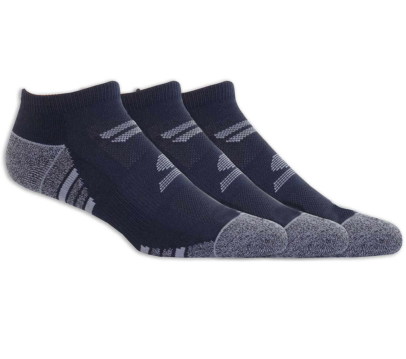 3 Pack Half Terry No Show Socks