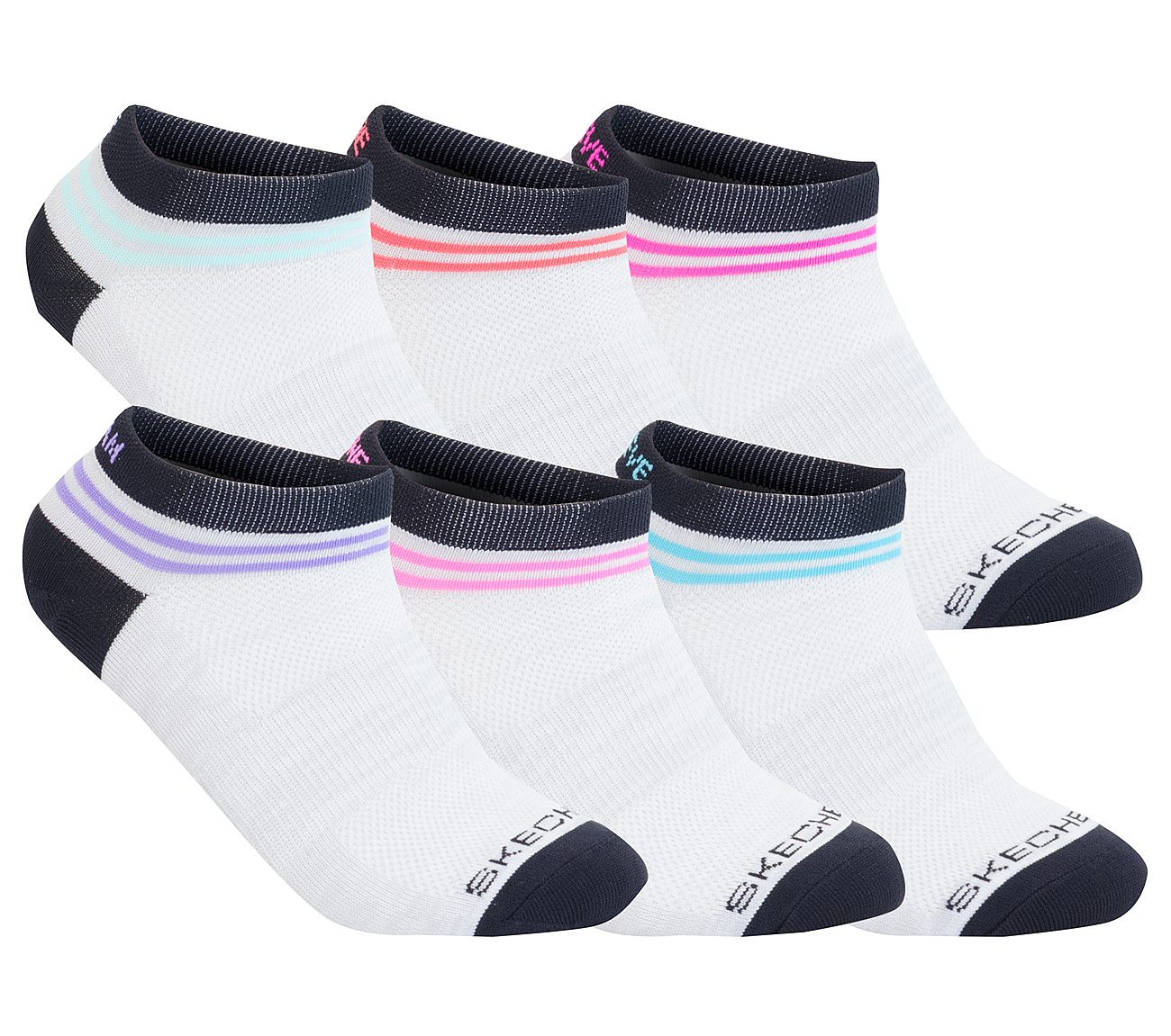 6 Pack Non Terry Low Cut Sport Socks